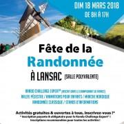 Fête de la randonnée à Lansac (Gironde) le 18 mars 2018