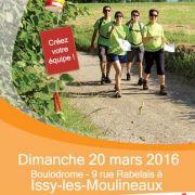 Rando Challenge® 92 le Dimanche 20 mars 2016 à Issy-les-Moulineaux