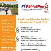 Rando du salon des seniors Paris le dimanche 10 avril