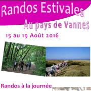 « Randos Estivales » au Pays de Vannes (morbihan) du 15 au 19 août 2016
