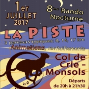 Rando Nocturne La Piste dans le Haut Beaujolais