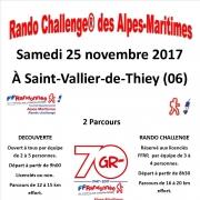 Rando challenge®  - Alpes Maritimes 25 nov. 2017