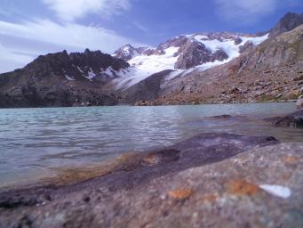 Lac et glacier de quirlies