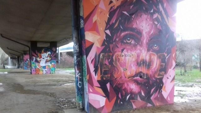 Février 2019 - Peintures murales à Neerpede, Anderlecht, Bruxelles-Capitale, Belgique