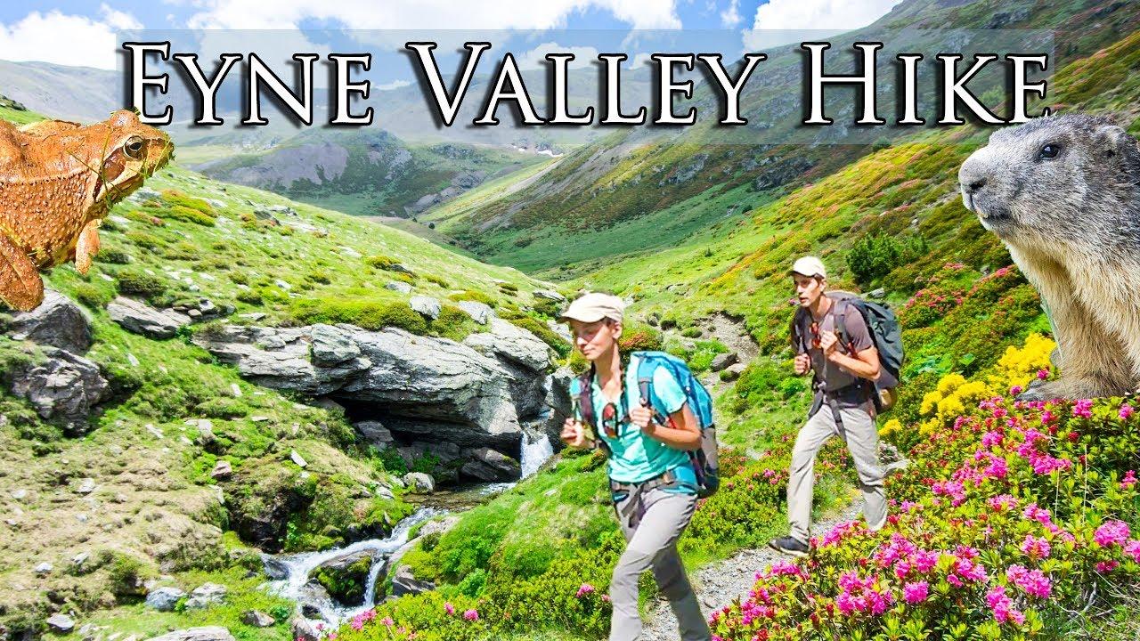 Video: Randonnée dans la vallée de l'EYNE dans les Pyrénées, France | Le paradis des animaux et des fleurs