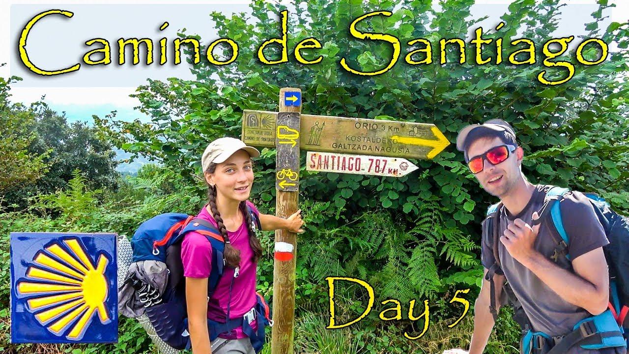 Premier jour d'orage et de pluie pour arriver à Zarautz | Jour 5 du Camino del Norte