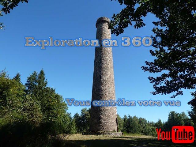 Vidéo 360 ° Vue de la tour de Niederbronn-les-bains