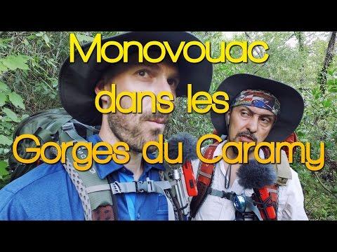 Monovouac dans les Gorges du Caramy